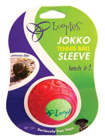 Loopies, Jokko Red Tennis Ball Sleeve, Complete with High-bounce Tennis Ball