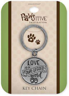 Pawsitive Key Chains, inscribed saying, Raised Detailing on Both Sides