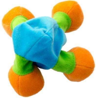 "Loopies Floppy Nobbies 15"", Dog Toy, Four stuffed ball ends, no stuffing center and a squeaker."