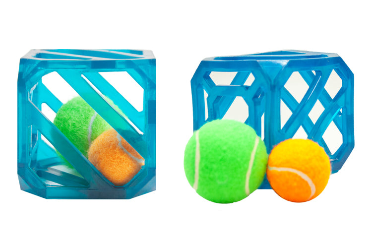 Outward Hound - Puzzle Cube Dog Toy with Squeaky Balls!