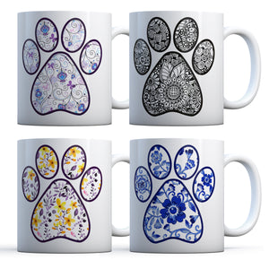 Pretty Paw Print White Ceramic Mug (11 oz or 15 oz)