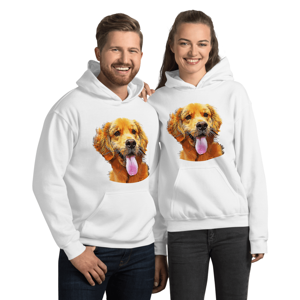 Golden Retriever Graphic Pullover Hoodie Sweatshirt PetDesignz Unisex men women