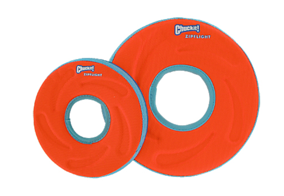 Chuckit! Zipflight Frisbee Disc Dog Toy (Small or Medium)