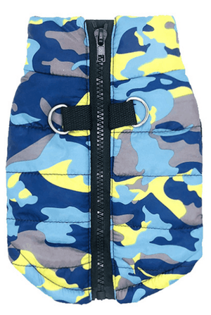 Camouflage Print Winter Dog Coat (Jacket) – Pink, Blue, and Army Camo Print
