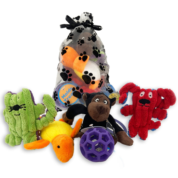 Loopies - Itty Bitty Squeaky Dog Toys - Teacup or XS Dog Toy Gift Pack