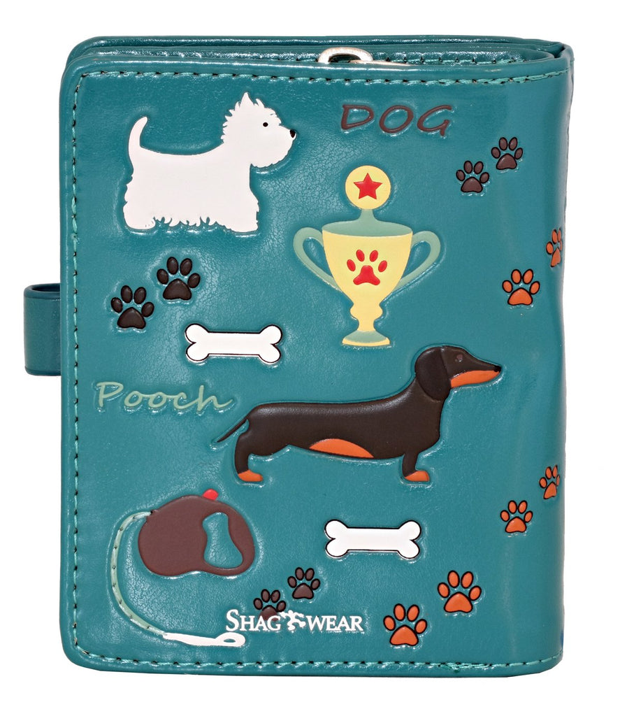 Faux Leather Wallet - Show Dogs and Puppies by Shagwear