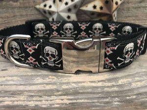 Billy Bones Custom Engraved Dog Collar by Diva Dog PetDesignz