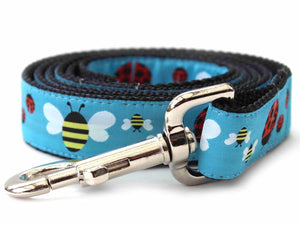 Lady Bugs and Bumble Bees Dog Leash by Diva Dog PetDesignz