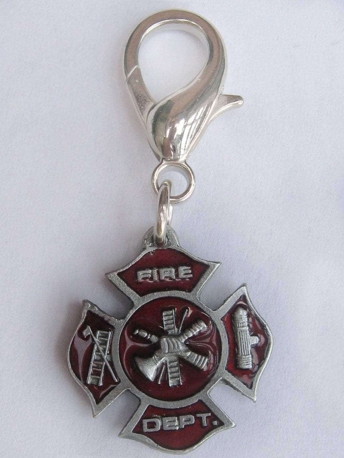 First Responder Dog Collar Charm or Keychain by Diva Dog