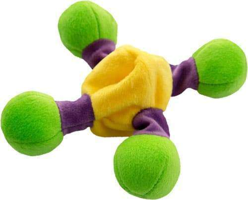 "Loopies - Floppy Nobbies, Small 8"" or Large 15"" Plush Dog Toy with Squeaker"