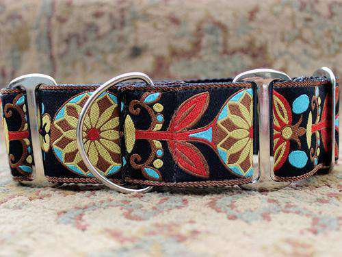 Mandala Star Martingale Dog Collar by Diva Dog PetDesignz
