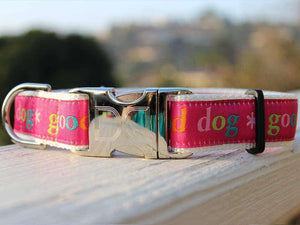 Good Dog Custom Engraved Dog Collar by Diva Dog PetDesignz