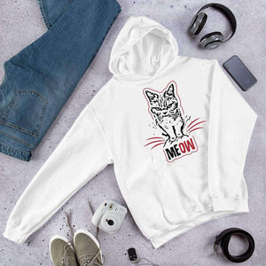 Grumpy Cat says MEOW Graphic Hoodie Sweatshirt Cat PetDesignz Unisex men women
