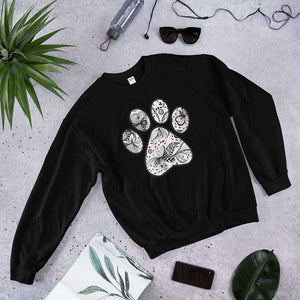 PetDesignz - Graphic Crewneck Sweatshirt - Queen of Hearts Paw Print