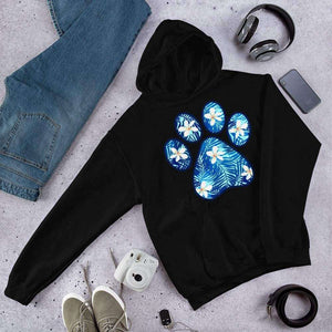 Hawaiian Paw Print Graphic Hoodie Sweatshirt PetDesignz Unisex men women