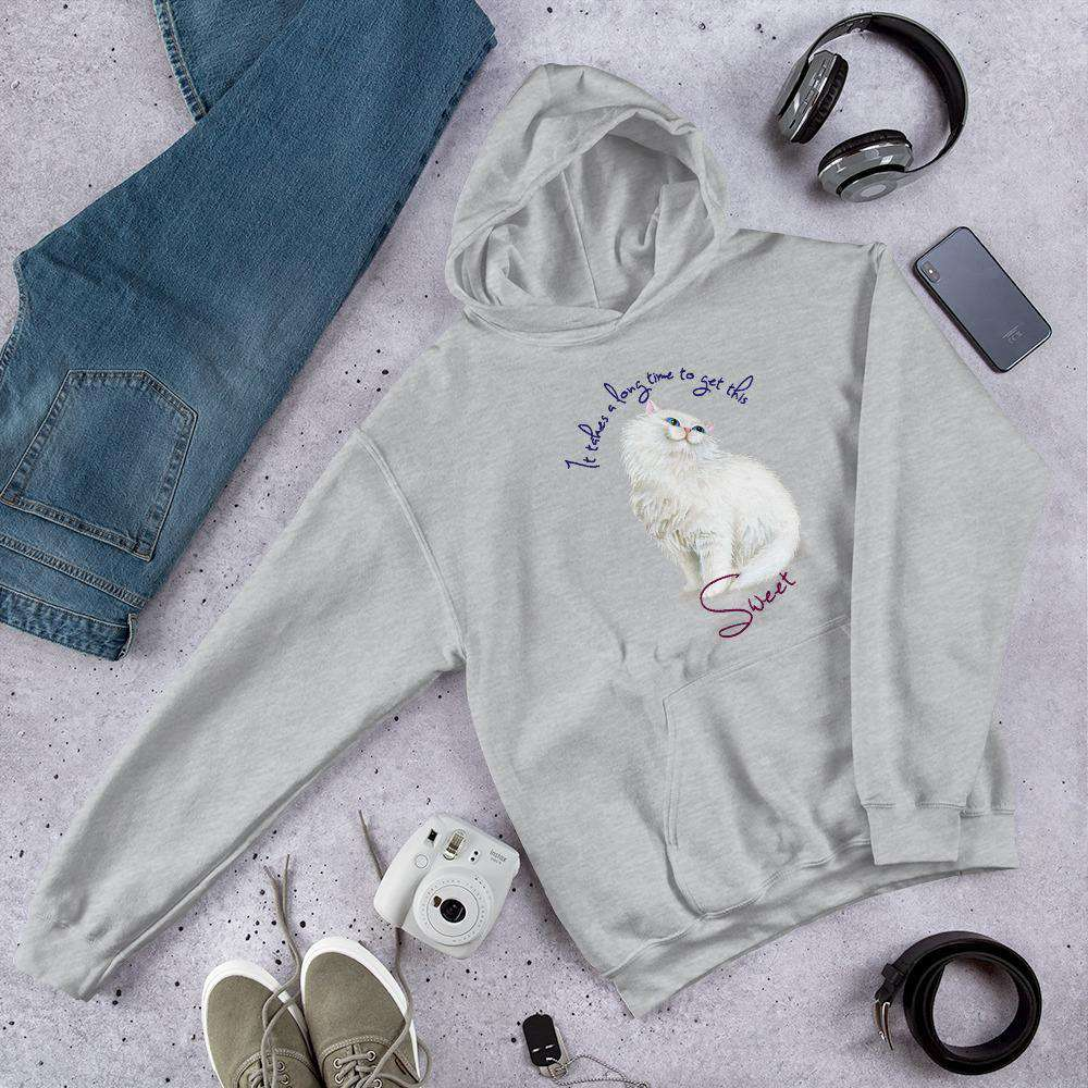 It takes a long time to Get This Sweet Cat Graphic Pullover Hoodie Sweatshirt Cat PetDesignz Unisex men women