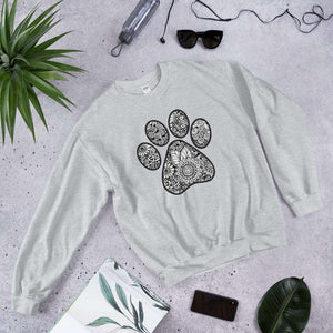 Classic Geometric Sunflower cat dog floral paw print Graphic Pullover Crewneck Sweatshirt