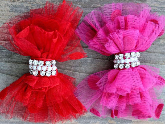 Party Dress Removable Dog Collar Bow by Diva Dog