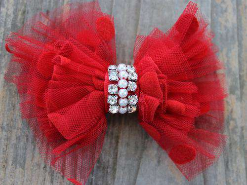 Diva Dog - Dog Collar Bow - Party Dress (Removable)