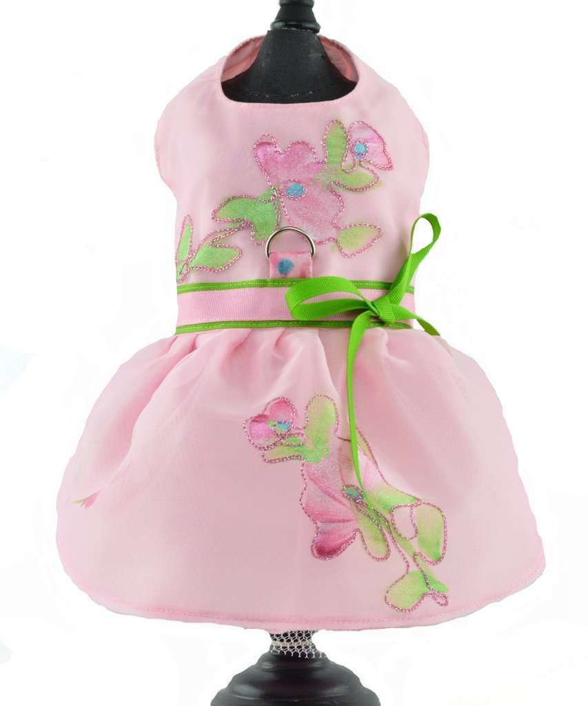 Spoiled Dog Designs - Pink Sheer Dog Pet Harness Dress