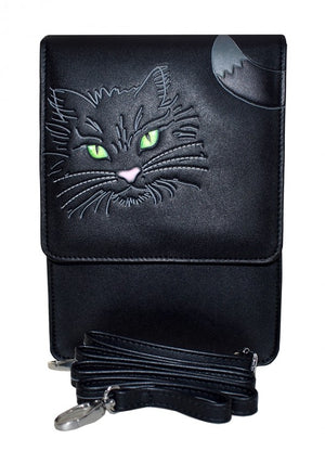 ShagWear - Small Crossbody Bag Purse, Faux Leather - Fluffy Cat