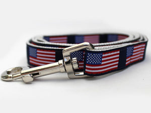 Stars n Stripes Custom Dog Leash by Diva Dog PetDesignz