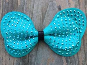 Butterfly Studded Suede Removable Dog Collar Bow by Diva Dog - PetDesignz