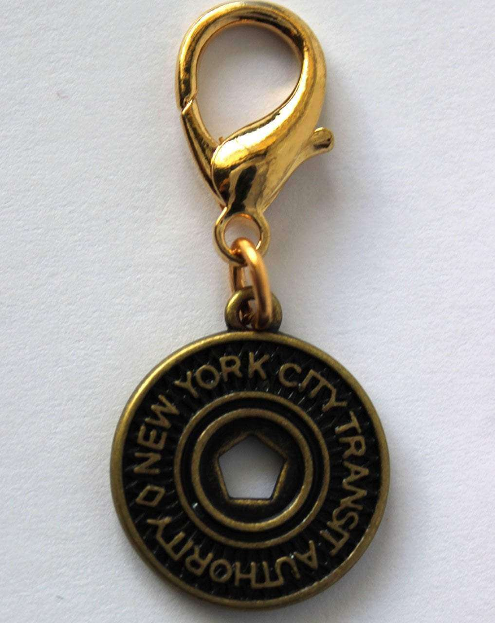 Diva Dog - New York Subway Token Dog Collar Charm