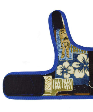 Spoiled Dog Designs - Blue Tiki Print Dog Vest Harness
