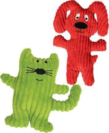 Loopies - Corduroy Dog Toy - Roscoe the Cat & Razzle the Dog (Squeaking Fun!)