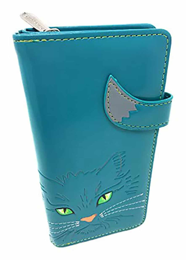 ShagWear - Large Faux Leather Wallet - Fluffy Cat