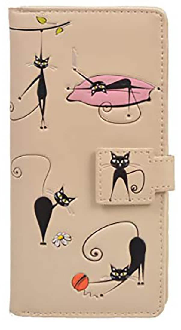 ShagWear - Large Faux Leather Wallet - Crazy Cats
