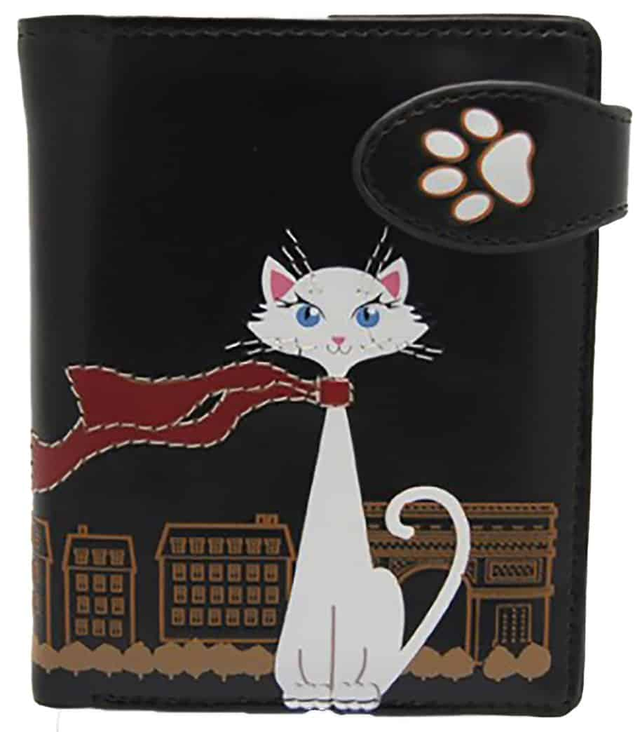 ShagWear - Small Faux Leather Wallet - Traveling Cat