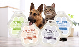 Pet House Wax Melts and Warmer - Dog and Cat Odor Neutralizer