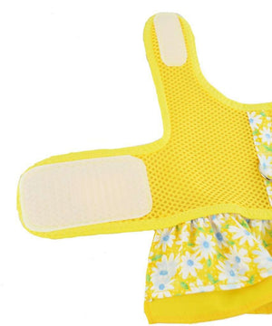 Spoiled Dog Designs - Yellow Air Mesh Ruffled Dog Vest Harness