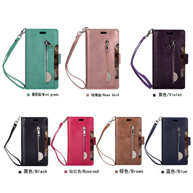 10 Card Pocket For Samsung Galaxy S9 S9 Plus Retro PU Leather Wallet Flip Stand Case For Samsung Galaxy S9 S9 Plus Cases