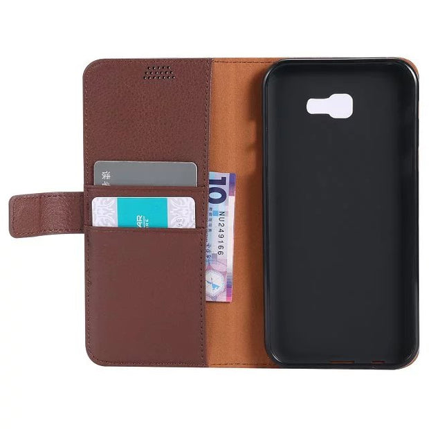 1pcs/lot Lychee PU Leather+TPU Cover Stand Case With Card Slot For Samsung Galaxy S8 G950 / S8 Plus G955 / A3 A5 A7 2017