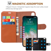 2 In 1 Luxury Magnetic Flip Wallet PU Leather Case For For IPhone XR XS Max X 8 7 Plus Cover Coque Capa For Samsung Galaxy S9 S8