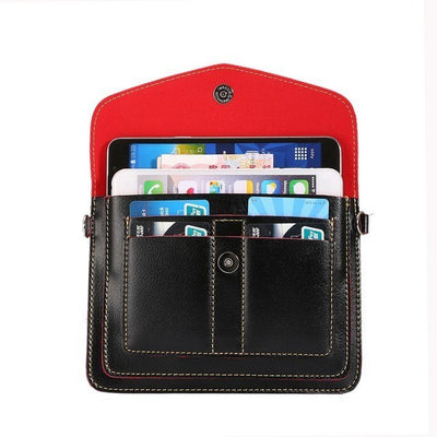 2017 Multi-pocket Girls Women Pouch Holster Bag Wallet Phone Cases For Elephone S7 P9000 R9 Oukitel K6000 K4000 Pro Cover 6.3""