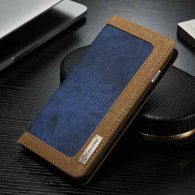 2018 New Luxury Magnetic Denim Genuine Leather Case For IPhone X SE 5S 6S 7 8 Plus XS Max XR Flip Wallet Phone Case Card Solt
