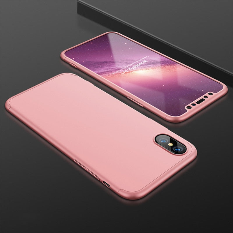 2018 New IPhone 10 XR XS Max Case Bags Black Red Blue PC Solid Scrub Simple Matte Phone Case For IPhone X XR Case