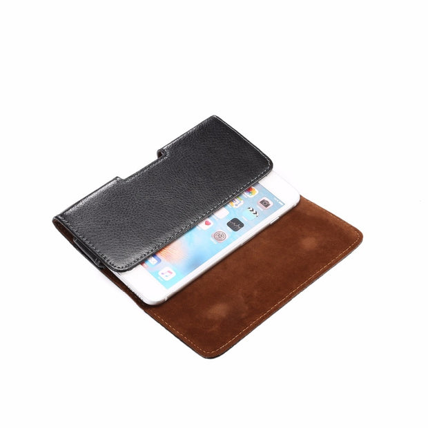 2018 Universal Holster Bag Magnetic Pouch Phone Cover Waist Leather Case For Samsung Galaxy Note 8 7 4 A5 A3 J7 J5 J3 2017
