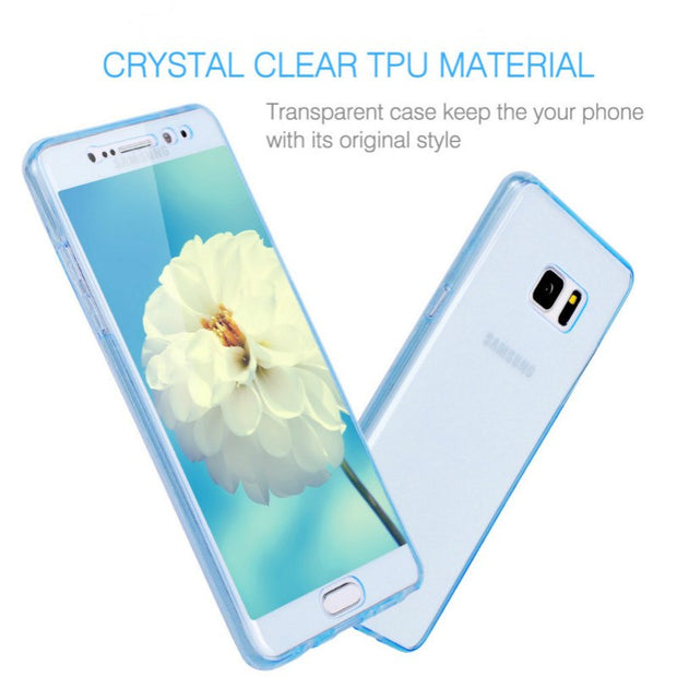 360 Full Body TPU Phone Cases For Sony XA X Z5 Z3 M5 M4 C5 XP Case Soft Slim Clear Cover Fundas Coque