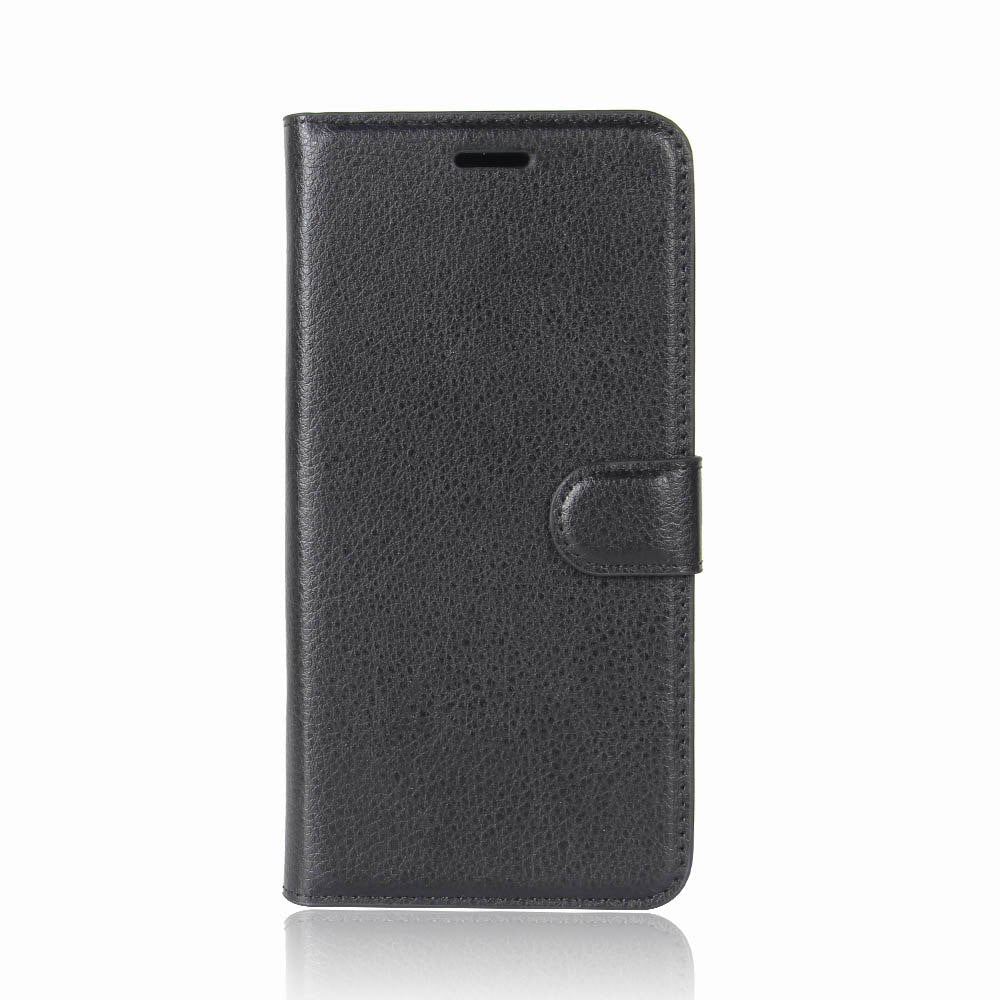 3C Case For Alcatel 3C Cover Wallet Card Stent Lichee Pattern Flip Leather Protect Cases Black Covers For Alcatel3C