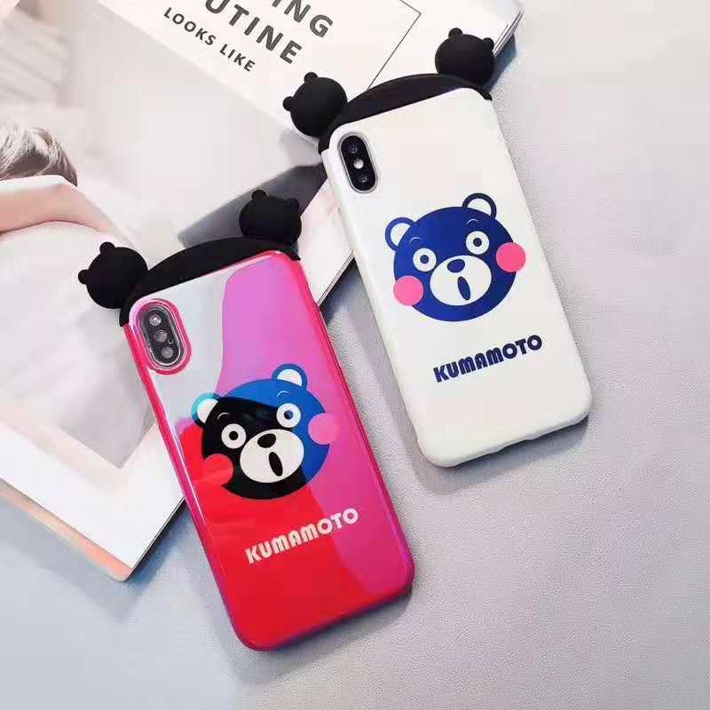 3D Cartoon Sesame Street Brown Bear Cony Pink Panther Blue Light IMD Case For IPhone Xs XR Xs Max Case For IPhone X 6 6s7 8 Plus