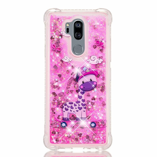 3D Liquid Case For LG G7 ThinQ Case Dynamic Quicksand Soft Silicone TPU Case For LG G7 Shockproof TPU Cover Funda G7 ThinQ Capa