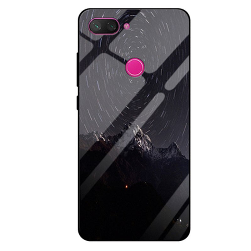 "6.26"" For Xiaomi Mi 8 Youth Case Luxury Gradient Tempered Glass Case For Xiaomi Mi8 Youth Phone Cases Mi 8Youth Shell Back Cover"