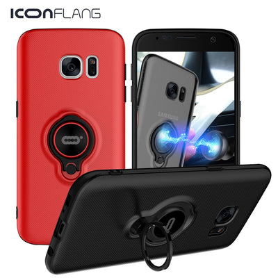 Armor Ring Case For Samsung Galaxy S7 S7 Edge Cover Shell Cases Shockproof Holder Stand Phone Back Case For Samsung S7