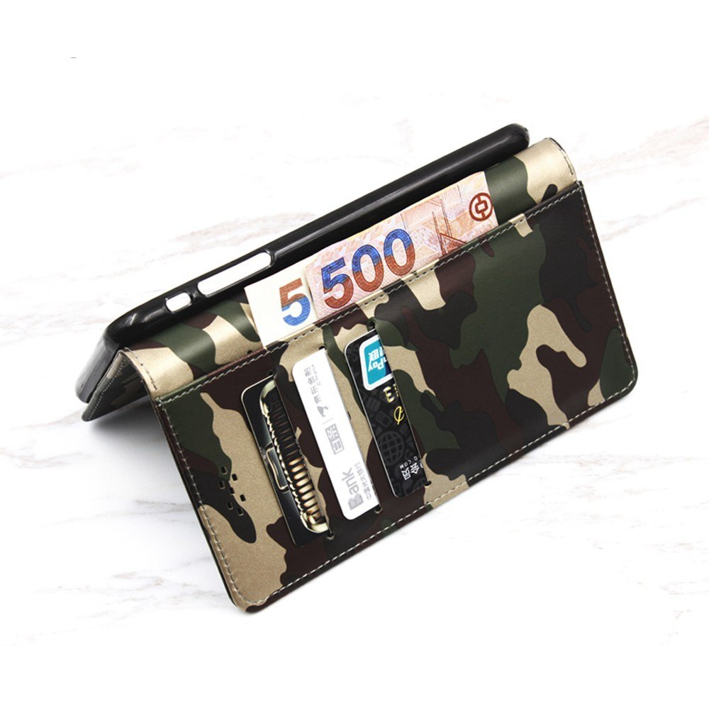 BOGVED Camouflage PU Leather Case For Cubot R 11 Cover Wallet Silicone Back Cover Phone Cases For Cubot R11 Flip Cover Stand