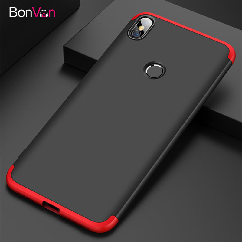 BONVAN For Xiaomi Redmi S2 Y2 Case Hard Plastic Luxury 360 Degree Protection Phone Cases For Xiaomi Redmi S2 Y2 Matte Back Cover